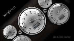 Dashboard detail 3d. On black background ( high resolution Royalty Free Stock Image