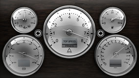 Dashboard Detail 3d On Black Background Stock Photo