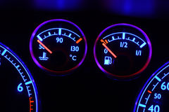 Dashboard Detail at Night Royalty Free Stock Images