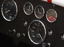 Dashboard Detail of Shelby Cobra royalty free stock photos