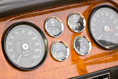 Dashboard Detail Of Vintage Car. Royalty Free Stock Image