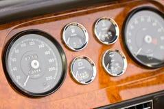 Dashboard Detail Of Vintage Car. Royalty Free Stock Image