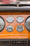 Dashboard Detail Of Vintage Car. Stock Photo