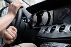 Dashboard Display Of Mersedes Benz E class royalty free stock photos