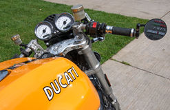 Dashboard of Ducati Sport 1000 Biposto motorcycle Stock Images