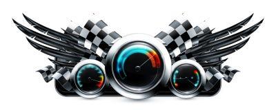 Dashboard emblem Stock Photo
