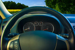 Dashboard en wiel royalty-vrije stock afbeelding