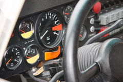 the dashboard of a four audi group b Stock Photography