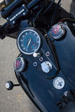 The dashboard and fuel tank of the motorcycle Harley-Davidson Stock Images