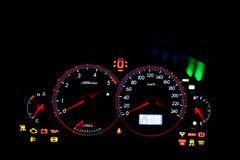 Dashboard gauges Stock Image