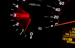 Dashboard gauges Stock Photo