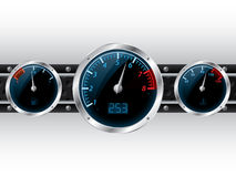 Dashboard gauges with industrial backgound Royalty Free Stock Photos