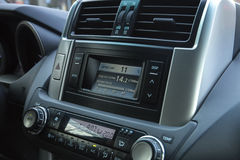 Dashboard gps audio system Stock Images
