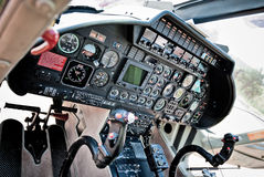 Dashboard of a helicopter Royalty Free Stock Photo