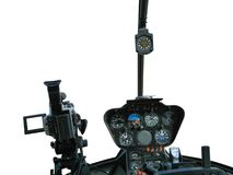 Dashboard of helicopter royalty free stock photos