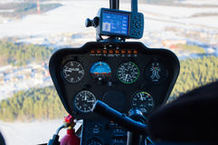 Dashboard helicopter Stock Images