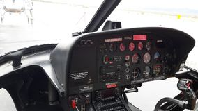 The Dashboard in a Helicopter stock images