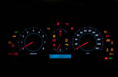 Dashboard of High Class Vehicle Stock Images