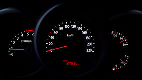 Dashboard highlighted in the dark. Royalty Free Stock Images