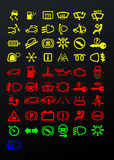 Dashboard icons stock illustration