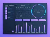 Dashboard infographic malplaatje met modern ontwerp royalty-vrije illustratie