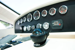 Dashboard instruments and compass Stock Images