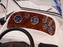 Dashboard instruments speedboat Royalty Free Stock Image
