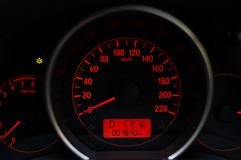 Dashboard of mileage car Royalty Free Stock Photo
