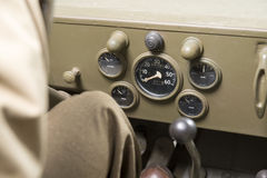 Dashboard of a military vehicle Stock Photography