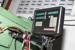 Dashboard Milling and Drilling Machines stock photos