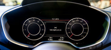 Dashboard of new Audi TT Coupe at the Singapore Motorshow 2015 Royalty Free Stock Image