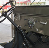 Dashboard of an old jeep Stock Image