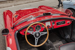 Dashboard of an old racing car Royalty Free Stock Photos