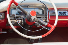 The dashboard of old red car Royalty Free Stock Photography