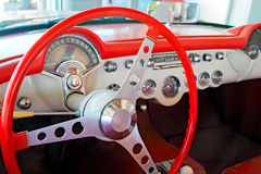 Dashboard of old sports car Stock Photography