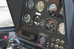 The dashboard panel in a helicopter cockpit, detail Royalty Free Stock Image