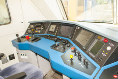 A Dashboard or panel in a train driver cabin Royalty Free Stock Image