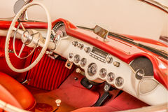 Dashboard in red and white stock photos