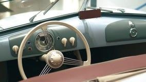 Dashboard of a retro sports car. Dashboard of a retro sportcar stock video footage