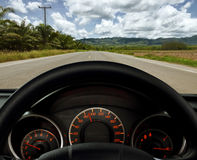Dashboard and road Royalty Free Stock Photos