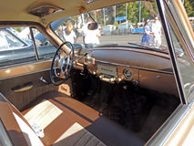Dashboard of the Soviet retro car Volga 21 Royalty Free Stock Photos