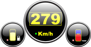 Dashboard speedometer Royalty Free Stock Images