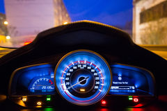 Dashboard of the sport car Stock Images