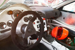 Dashboard of sport drift racing car. Custom from metal. Driftracing interior dashboard stock images