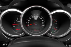 Dashboard of a sports car Royalty Free Stock Image