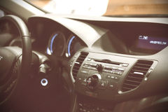 Dashboard of a sports car royalty free stock photography