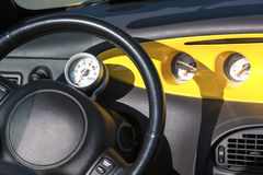 Dashboard of sports car. Royalty Free Stock Photo