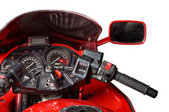 Dashboard of a sports motorbike Stock Image