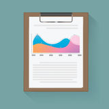 Dashboard statistical graph vector illustration Concept Stock Image