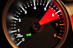 Dashboard tachometer Stock Images